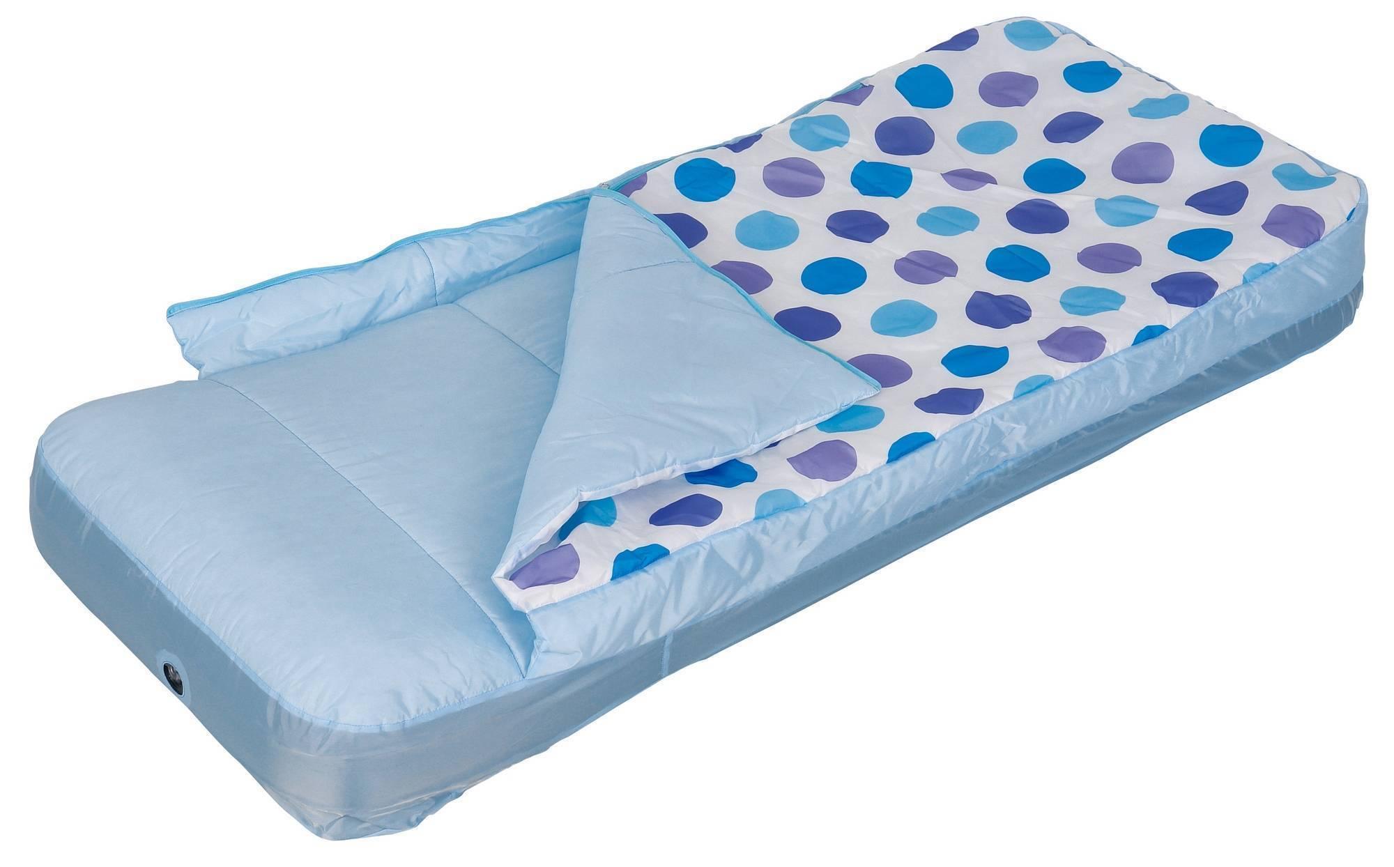 Кровать матрац надувная со спальным мешком, hula elly, 64*152*20, насос 66802 (х) доставка, мебель, детская мебель