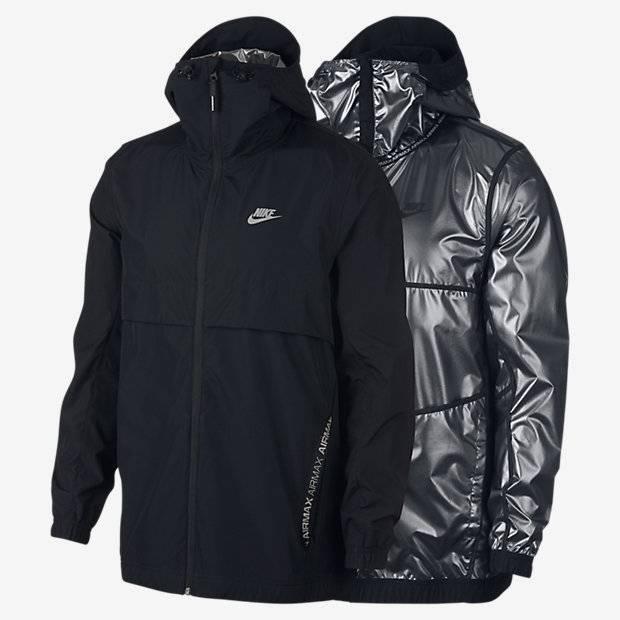 1b47c161 Мужская двусторонняя куртка Nike Sportswear Air Max (Черный) (928763 ...